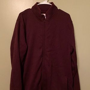 Old Navy Men's Zip up Cardigan in Wine